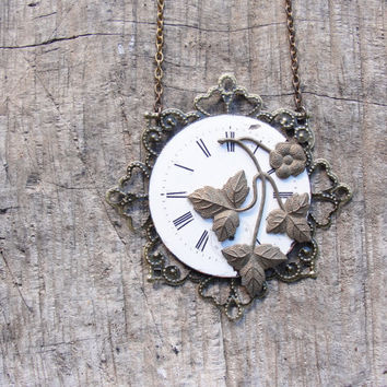 Time will Tell Altered Steampunk Necklace