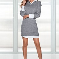 %PC% Collar detail sweater dress, bootie from VENUS