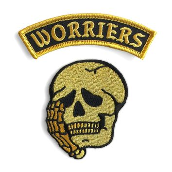 Worriers Anxiety Club Patch Set - GOLD MINI VERSION