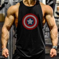High Elastic Quickly Dry Sports Tank Top Training T-shirt Sleeveless Men Workout Fitness Running Vests Shirt Cotton Men Clothing