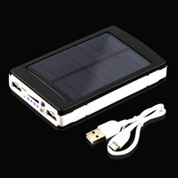 New Universial Solar Power Bank 15000mah High Capacity Portable Solar Charger Solar Battery for All Mobile Phones