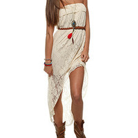 rue21 :   BELTED KNIT LACE HI LO