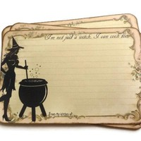 Halloween Witch Recipe Cards - Pack of 12
