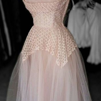 1950s Vintage Pink Prom Dress by Nostalgia913 on Etsy