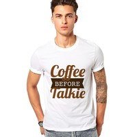 Coffee before Talkie Quotes Mens Shirts