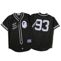 'BAPE' Sports On Sale Hot Deal Jacket Short Sleeve T-shirts Couple Baseball [10425658119]