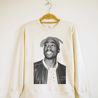 2Pac Shirt Smile Shirt Tupac Shakur Shirt Rock Shirt Hip Hop Sweater Shirt Sweatshirt Jumpers Long Sleeve Women Shirt Unisex Shirt SizeS,M,L