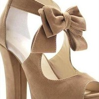 Cute bowknot high heel shoes from bebpillo
