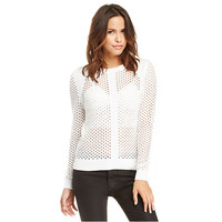 White Long Sleeve Knitted Pullover