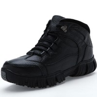 Men's Snow Boots Leather Waterproof Rubber Snow Boots