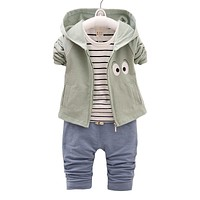 Kids Clothes Baby Boy Girl Clothing set 3 PCs Sport Suits Casual Children Jacket T-shirt Pants Boys costume child set