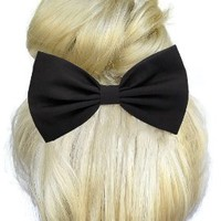 Black Hair Bow Clip Handmade By Sweet in the City