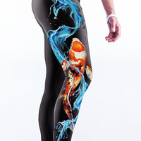 Printed High Waist Gym Yoga Running Sports Pants