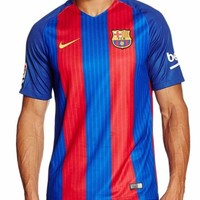 Nike FC Barcelona FCB 2016 2017 Home Soccer Football Shirt Jersey Size L