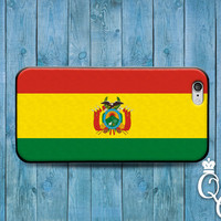 iPhone 4 4s 5 5s 5c 6 6s plus + iPod Touch 4th 5th 6th Generation Red Yellow Green Country Flags South America Bolivia Flag Case Phone Cover