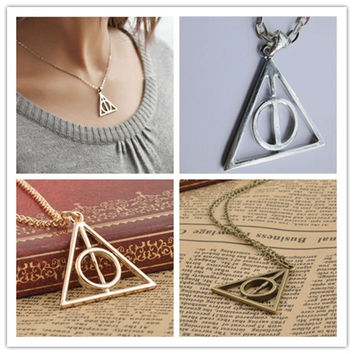 Film Movie Harry Potter-Deathly Hallows Metal Necklace Pendant As Gifts = 1920009860