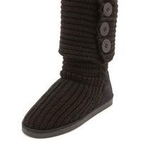 FOLD-OVER SWEATER KNIT BOOT