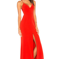Lovers + Friends Helena Gown in Red | REVOLVE