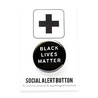 Black Lives Matter Button in Black and White