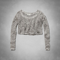 Parker Cropped Shine Sweater
