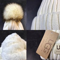 UGG Knit Hat Cap Winter Pom Pom Beanie Hat with Warm Fleece Lined [2974244211]