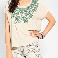 Urban Outfitters - Staring At Stars Embroidered Tulip-Back Top