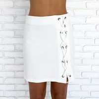 Carefree Mini Skirt in Ivory