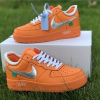 OFF-WHITE x Nike Air Force 1 Men Women Sport Basketball Shoes Sneaker Shoes