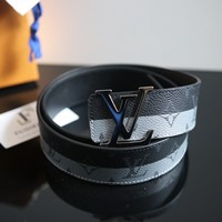 AUTH BNWT LOUIS VUITTON ECLIPSE REVERSE BELT SPRING SS 18 2018 Size 90/34""