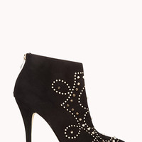 FOREVER 21 High-Voltage Stiletto Booties Black