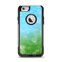 The Abstract Shaped Sparkle Unfocused Blue & Green Apple iPhone 6 Otterbox Commuter Case Skin Set