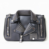 2016 women bags Designer clutch fashion rivet motorcycle shoulder bag new summer fashion handbag chain Crossbody casual Bag