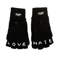 Love Hate Knuckle Tattoo Gloves