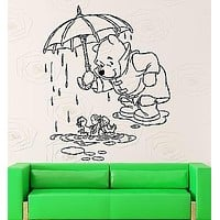 Wall Stickers Vinyl Decal Kids Room Winnie The Pooh Cartoon Baby Decor Unique Gift (ig1054)