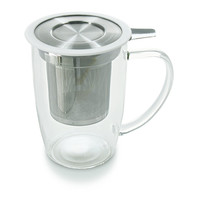 NewLeaf Glass Tall Tea Mug with Infuser &Lid [801] - $27.60 : FORLIFE, Online Shop
