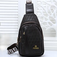 Fendi Women Men Fashion Leather Crossbody Bag