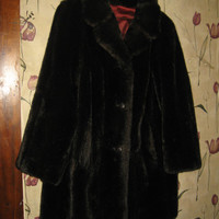 VINTAGE Ladies faux fur MINCARA coat by Russel Taylor