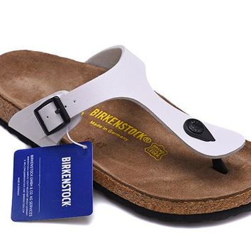 Men's and Women's BIRKENSTOCK sandals  Gizeh Birko-Flor Patent 632632288-032