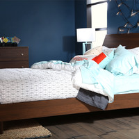 South Shore Olly Mid-Century Modern Queen Platform Bed