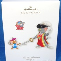 2011 Two Mouseketeers Hallmark Tom and Jerry Retired Ornament