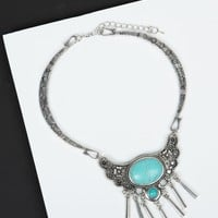Tribal Antique Stone Collar Necklace