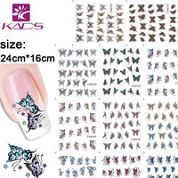 KADS 11sheet set BLE1390-1400 Butterfly nail sticker decal Serie water decals nail art stickers for nail water decals