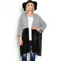 Long Casual Chiffon Cardigans Kimonos Plus Size S-3XL Spring Autumn Women Kimono Cardigan Knitted