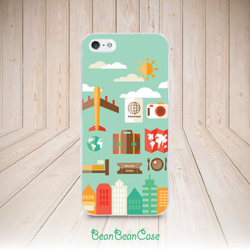 Travel plane holiday trip concept case for iPhone 6/4s/5/5s/5c, Samsung S5/Note4, Sony, LG Nexus, Nokia Lumia, HTC One, Moto X Moto G(A31)