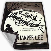 To Kill a Mockingbird by Harper Lee Blanket for Kids Blanket, Fleece Blanket Cute and Awesome Blanket for your bedding, Blanket fleece **