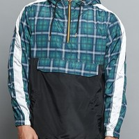 Plaid Anorak Windbreaker Jacket
