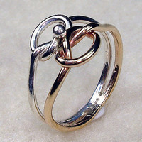 Celtic Double Love Knot Ring with Argentium by AviationJewelry