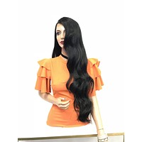 """Long 30"""" SWISS lace front wig - Pride"""