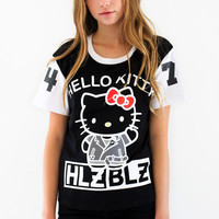 Hellz Bellz x Hello Kitty Hi Hellz Black Tee