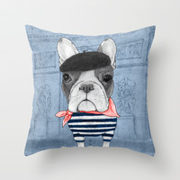French Bulldog. Throw Pillow by Barruf
